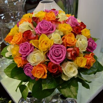 Blumenstrauß: Rosenfestival